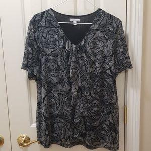 Croft & Barrow blouse sz 1X